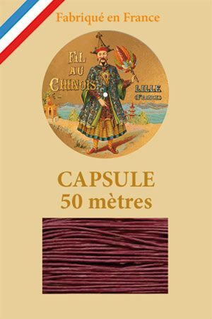 Waxed linen thread size 40 50m capsule - Col. 470 – Dark red