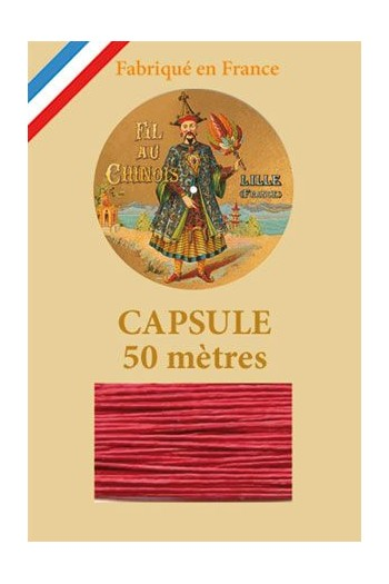 Waxed Linen thread size 40 - 50m capsule Col.525 - Red