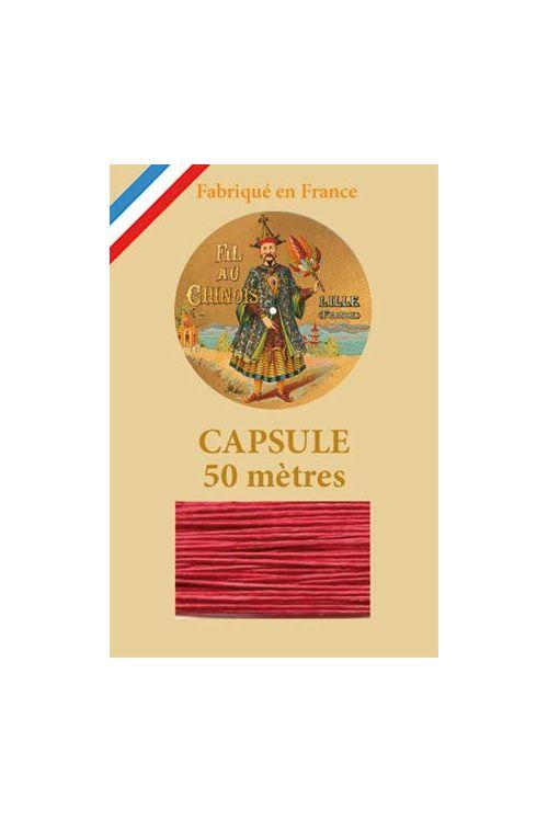 Fil de lin glacé n°40 capsule 50 mètres Col. 525 - Rouge Vif