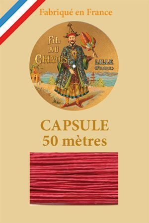 Waxed linen thread size 40 50m capsule - Col. 525 – Red