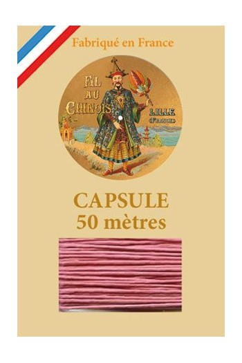 Waxed Linen thread size 40 - 50m capsule Col.600 - Old Pink