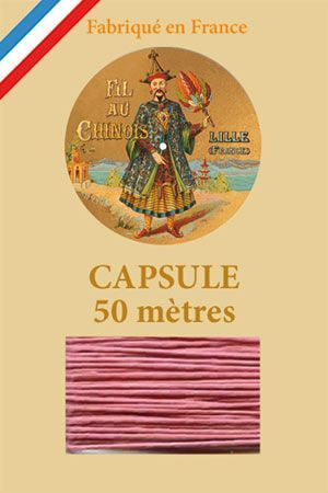 Waxed linen thread size 40 50m capsule - Col. 600 – Old pink