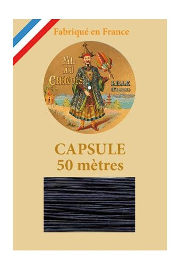 Waxed Linen thread size 40 - 50m capsule Col.650 - Navy Blue