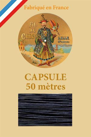 Waxed linen thread size 40 50m capsule - Col. 650 – Navy blue