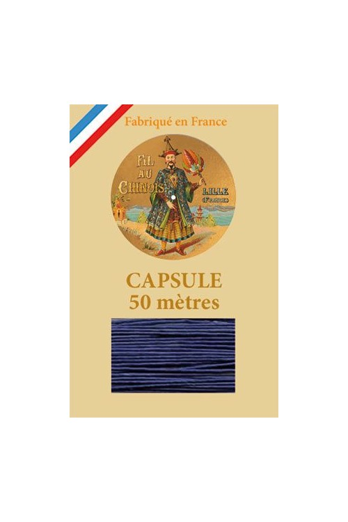 Waxed Linen thread size 40 - 50m capsule Col.678 - Royal Blue