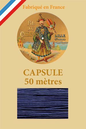 Waxed linen thread size 40 50m capsule - Col. 678 – Royal blue