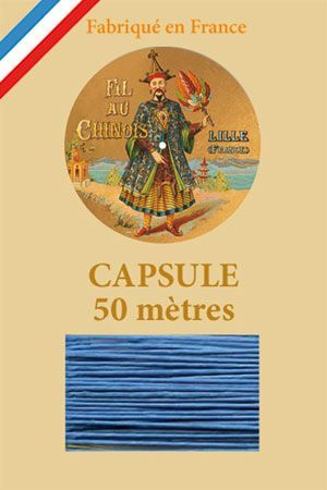 Waxed linen thread size 40 50m capsule - Col. 735 – Turquoise