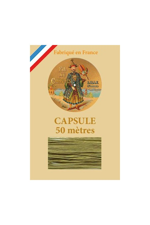 Waxed Linen thread size 40 - 50m capsule Col.848 - Yellow Green