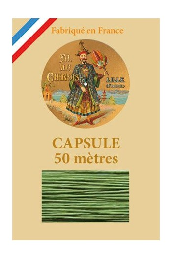 Waxed Linen thread size 40 - 50m capsule Col.866 - Bright Green