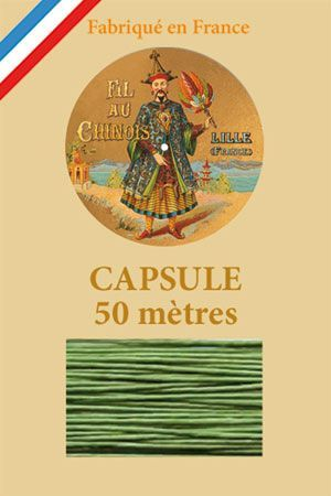 Waxed linen thread size 40 50m capsule - Col. 866 – Bright green