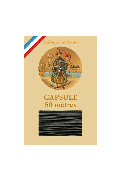 Waxed Linen thread size 40 - 50m capsule Col.894 - Dark Green
