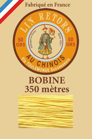Waxed linen sewing thread size 40 - 350m spool Col.363 – Yellow