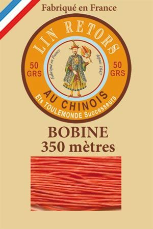 Waxed linen sewing thread size 40 - 350m spool Col.380 – Tango