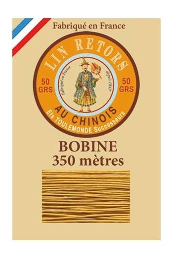 Waxed linen thread size 40 - 350m spool Col.405 - Golden Yellow