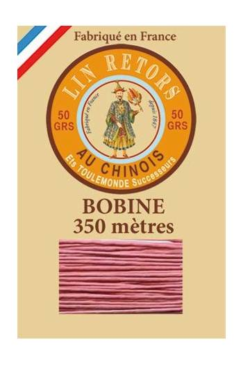 Waxed linen thread size 40 - 350m spool Col.600 - Old Pink