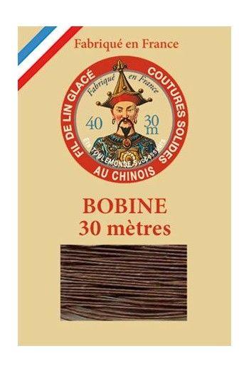 Waxed linen thread size 30m spool Col.205 - Havana