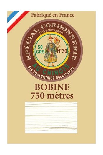 Waxed polyester Special Cordonnerie Col.750m spool n°105 - Ivory