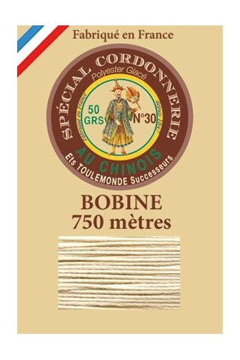 Waxed polyester Special Cordonnerie Col.750m spool n°308 - Linen