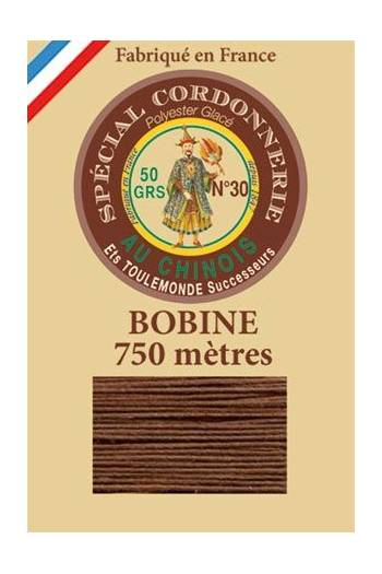 Waxed polyester Special Cordonnerie Col.215 - Brown