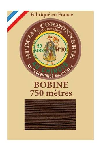 Waxed polyester Special Cordonnerie Col.210 - Coffee