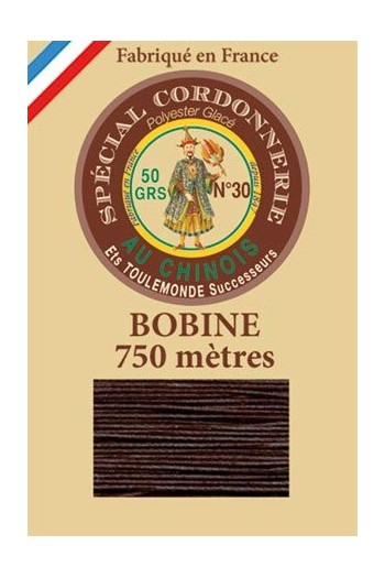 Waxed polyester Special Cordonnerie Col.202 - Chocolate