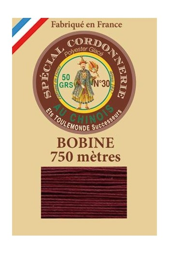 Waxed polyester Special Cordonnerie Col.453 - Burgundy