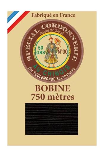 Waxed polyester Special Cordonnerie Col.180 - Black