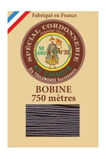 Waxed polyester Special Cordonnerie Col.170 - Grey