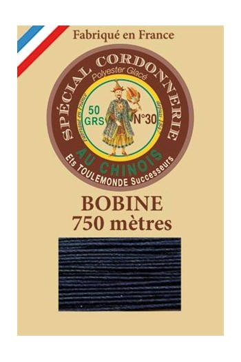 Waxed polyester Special Cordonnerie Col.650 - Coal