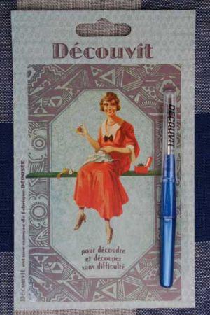 Découseur couture Véritable Découvit Coloris bleu de France