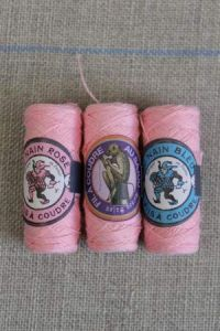 Cotton tacking thread sachet three Sajou cocoons Col. 592 - Pink