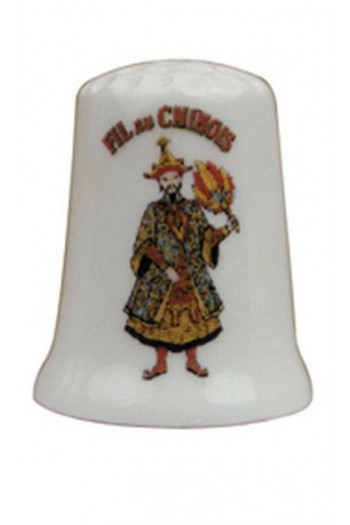 Fine white porcelain collectors thimble - Fil Au Chinois