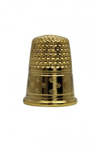 Gold-plated brass dressmakers thimble size 5 - 14,9mm
