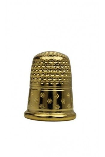 Gold-plated brass dressmakers thimble size 6 - 14,5mm