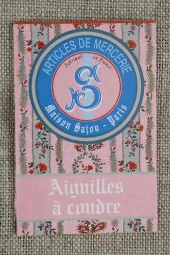 20 sewing needles - sizes 3, 5, 7 & 9 - Sajou pink booklet