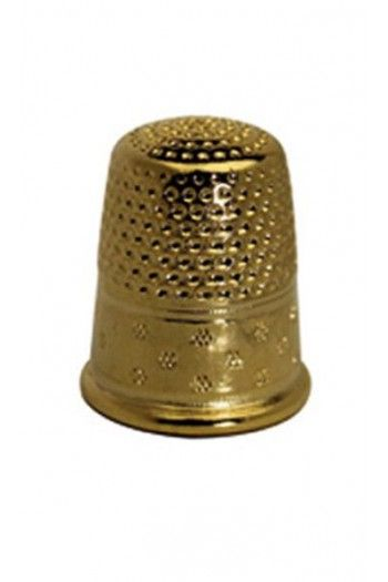 Gold-plated brass dressmakers thimble size 0 - 17mm