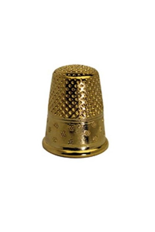 Gold-plated brass dressmakers thimble size 2 - 16,1 mm