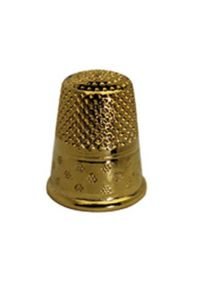 Gold-plated brass dressmakers thimble size 3 - 15,7mm