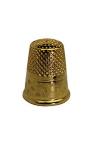 Gold-plated brass dressmakers thimble size 4 - 15,3mm