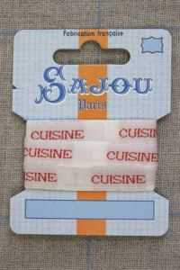 "13mm woven ribbon ""Cuisine"" (kitchen)"