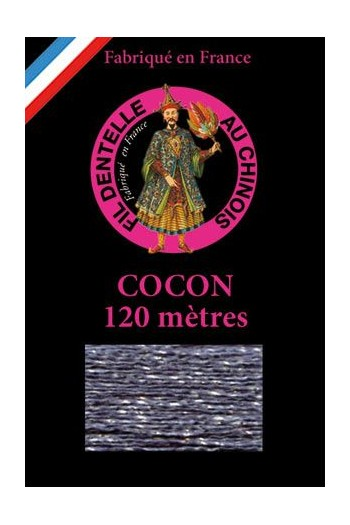 Coloured lace thread 120 m Caudry Cocoon  3041- Grey