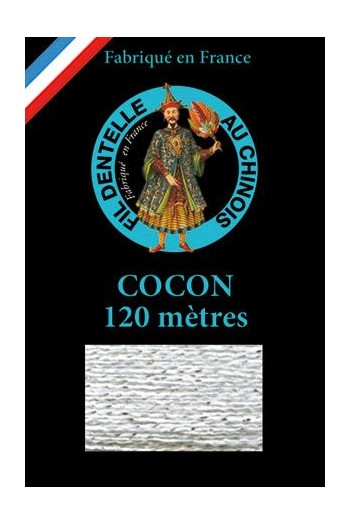 Coloured lace thread 120 m Caudry Cocoon 3100 - White