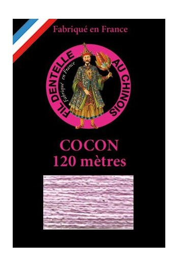 Coloured lace thread 120 m Caudry Cocoon 3031 - Lilac