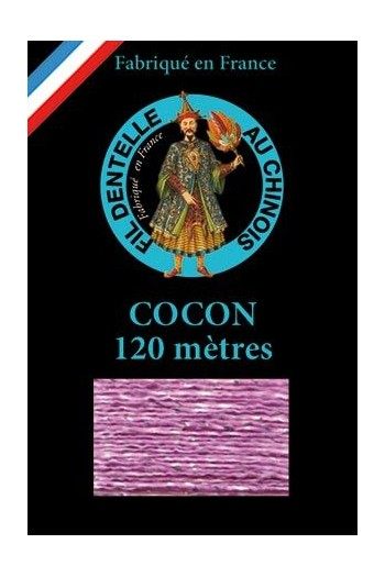 Coloured lace thread 120 m Caudry Cocoon 3080 - Mauve