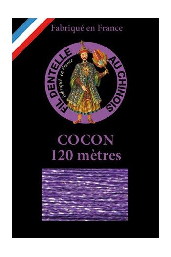 Coloured lace thread 120 m Caudry Cocoon 3979 - Pansy