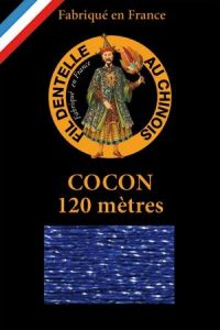 Coloured lace thread 120 m Caudry Cocoon  3076 - Navy
