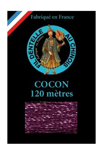 Coloured lace thread 120 m Caudry Cocoon  3716 - Purple