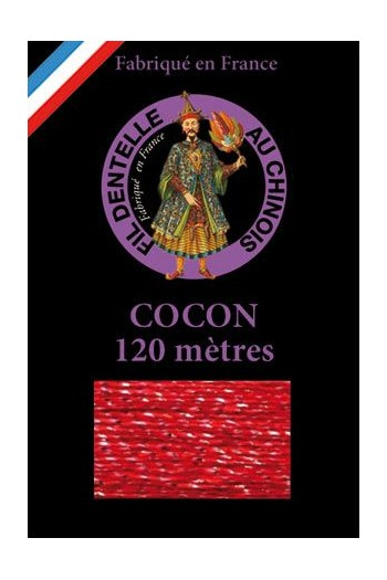 Coloured lace thread 120 m Caudry Cocoon 3434 - Red