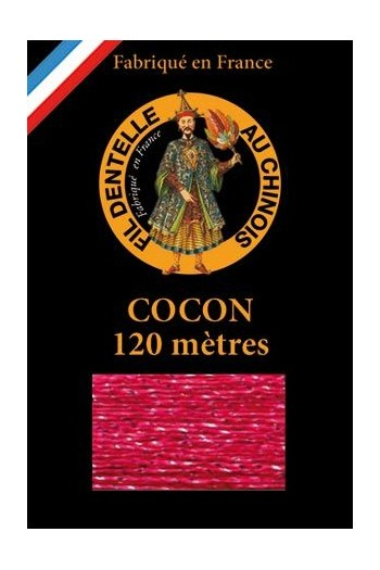 Coloured lace thread 120 m Caudry Cocoon 3110 - Fuchsia
