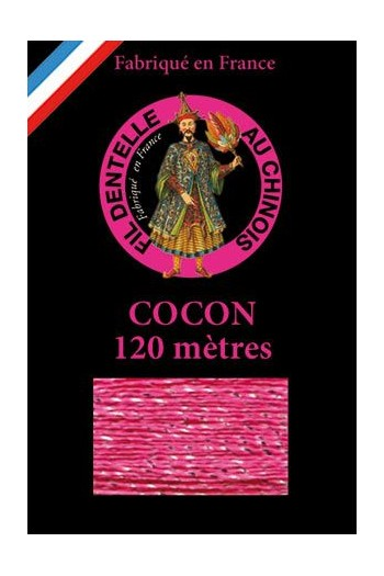 Coloured lace thread 120 m Caudry Cocoon 3309 - Pink